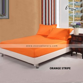 Stripe Orange Duvet Cover